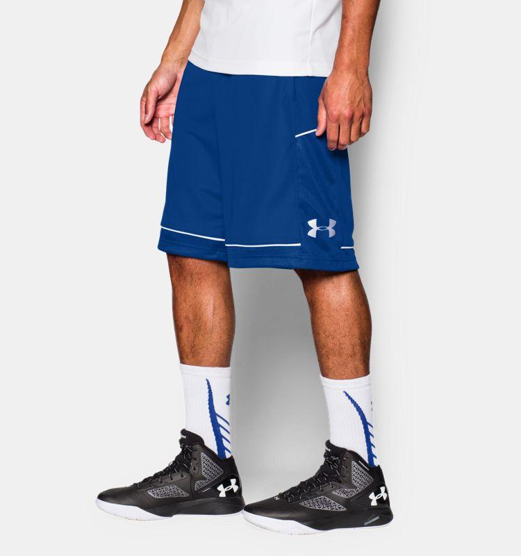《UA出清69折》Shoestw【1271953-400】UNDER ARMOUR UA服飾 籃球褲 運動褲 12吋 皇家藍色 男生