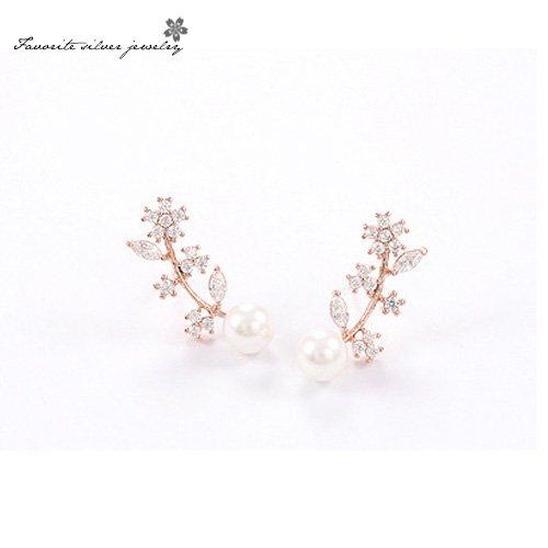 925銀針樹葉造型耳環 10067【櫻桃飾品】【10067】