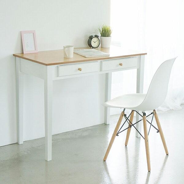 電腦桌  桌子  書桌 典雅雙抽100cm電腦桌 MIT 製 完美主義~I0145~