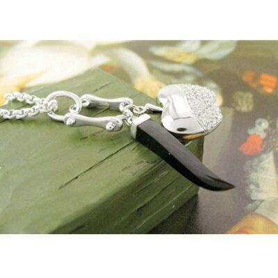 925純銀項鍊 鑲鑽吊墜~ 辣椒蘋果精緻情人節生日 女飾品73gm98~ ~~米蘭 ~
