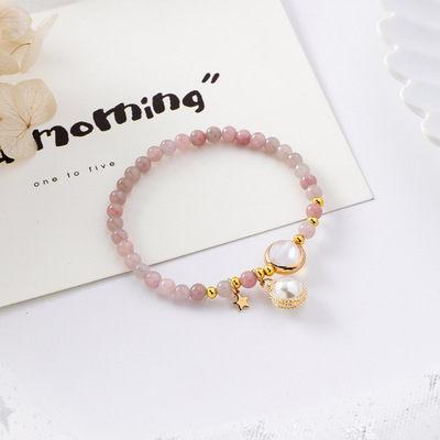 PS Mall 韓版甜美少女心金屬纏繞珍珠串珠手鏈森林系簡約個性手串【G2528】 8