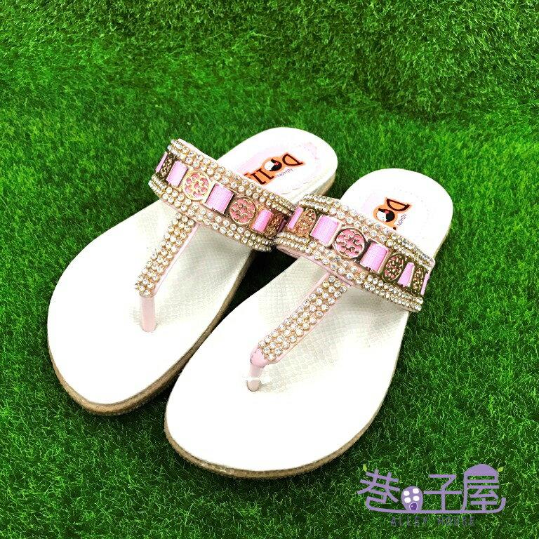 【巷子屋】NIHON DOLLS 女童亮鑽夾腳拖鞋 [3115] 粉 MIT台灣製造 超值價$150【SS感恩加碼 | 單筆滿1000元結帳輸入序號『SSthanks100』現折100元】