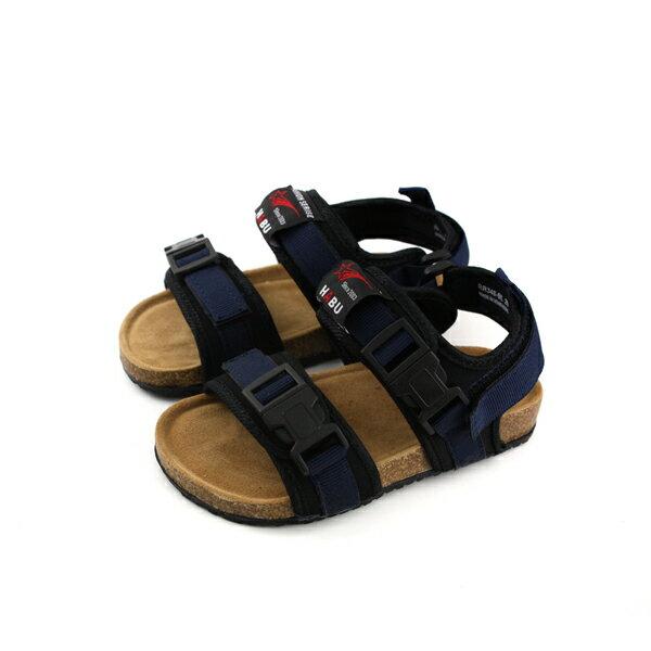 小男生鞋涼鞋魔鬼氈藍色童鞋RR34B-BLno005
