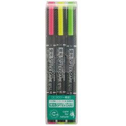 【ZEBRA】 WKCR1-3C 3色組雙頭螢光筆