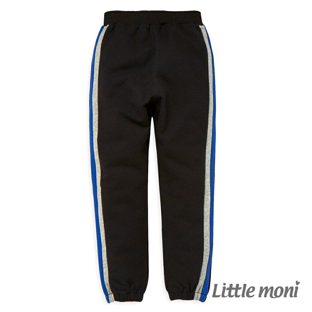 Little moni 直條剪接束口褲-黑色(好窩生活節) - 限時優惠好康折扣