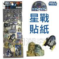 [日潮夯店] 日本正版進口 STAR WARS 星球大戰 星際大戰 機器人 R2-D2 / C-3PO貼紙
