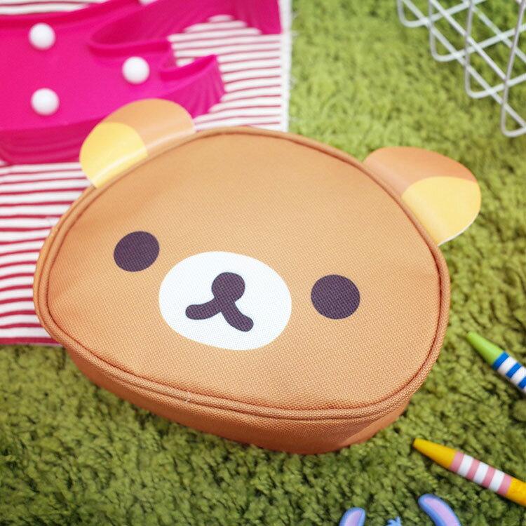 PGS7 拉拉熊系列商品 - 拉拉熊 Rilakkuma 懶懶熊 頭型 化妝包  收納包【SIB7079】