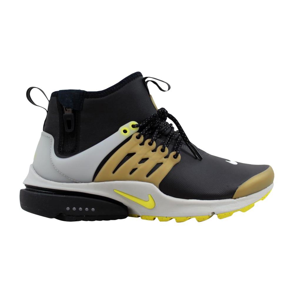 cheap for discount 68026 0c5e6 Nike Air Presto Mid Utility Black Yellow Streak 859524-002 Men s Size 12 0