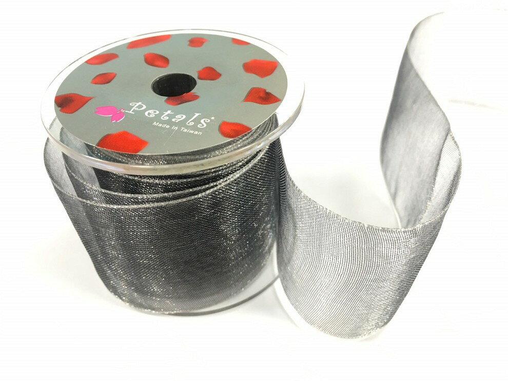 Petals緞帶刺繡-38mm雙色雪紗(十色) 1