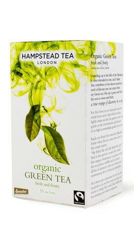 有機綠茶~世界知名品牌英國進口漢普斯敦有機綠茶 (demeter 認證) Hampstead Tea 25茶袋包裝