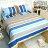 雙人床包涼被4件組-夏天的風 【精梳純棉、吸濕排汗、觸感升級】台灣製造 # 寢國寢城 3