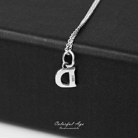925純銀項鍊 簡單大方英文字母D造型頸鍊短鍊 流行自我風格 抗過敏設計 柒彩年代【NPB28】 0
