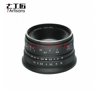 限時免運 七工匠 25mm F1.8 for Sony E mount 黑色 微單鏡頭