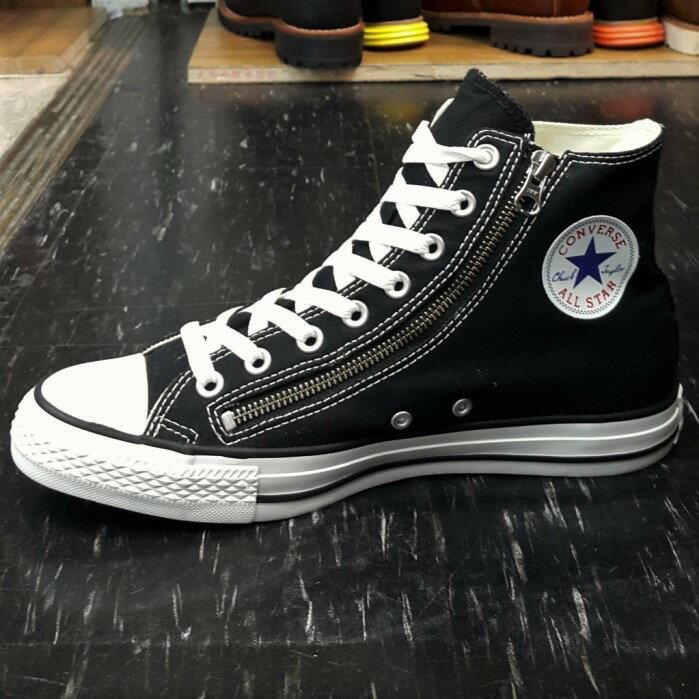 Converse Chuck Taylor All Star 拉鍊 高筒 基本款 帆布 黑色 黑白 140004C