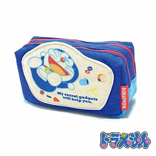 sightme看過來購物城:深藍款【日本進口】哆啦a夢DORAEMON帆布雙層化妝包收納包-150564
