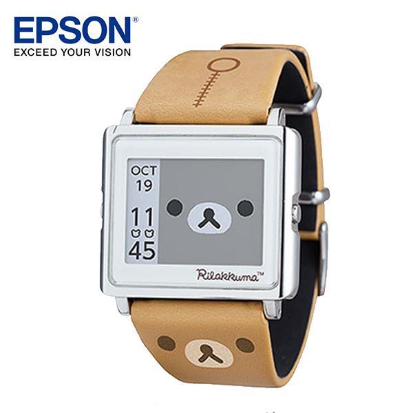 EPSON Rilakkuma 拉拉熊手錶 百變! 4種動態圖案顯示 細緻! 日本精工設計輕巧薄型外觀 時尚! 搭配穿著任意變換錶帶 耐用! 獨家省電技術3年持久電力