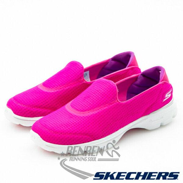 SKECHERS 女健走鞋GO WALK 3 (桃紅) 懶人鞋 運動鞋