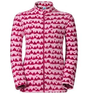 ├登山樂┤瑞士ODLO兒童夾克立領保暖刷毛側拉鍊袋戶外保暖玫瑰粉#260829-70438