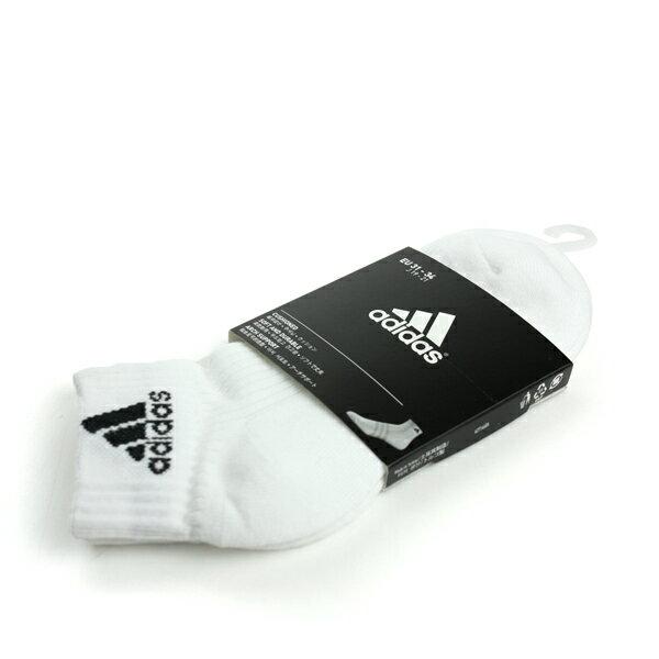 adidas Sport 舒適 好穿 柔軟 棉 襪 白 noB32