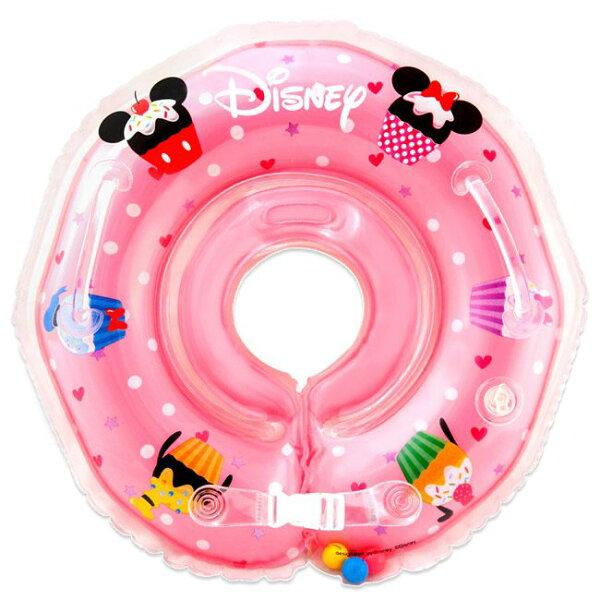小奶娃婦幼用品:曼波魚屋-Disney迪士尼繽紛蛋糕幼兒游泳圈脖圈(附水溫感測卡、打氣筒)