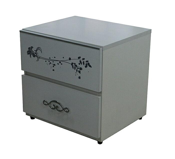 【尚品家具】※特賣※ K-655-35 坷萊蒂絲 白色1.6尺床頭櫃/床邊櫃/收納櫃/床旁置物櫃/床沿整理櫃