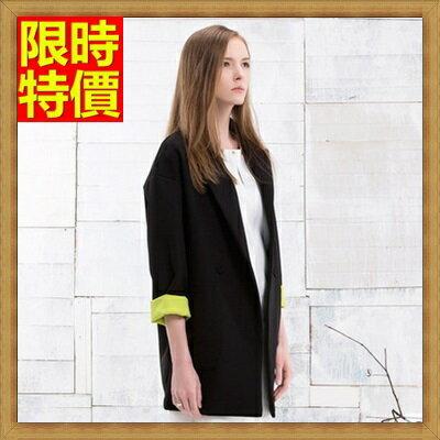 西裝外套中長版女外套-寬鬆大碼薄款好穿韓版百搭西裝外套2色71n39【獨家進口】【米蘭精品】