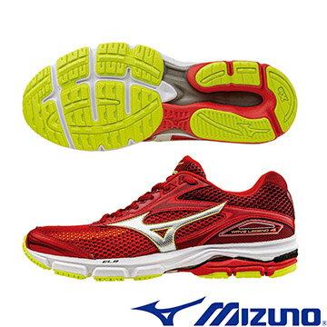 J1GC161004(紅X銀)享受慢跑!WAVE LEGEND 4 男慢跑鞋 A【美津濃MIZUNO】