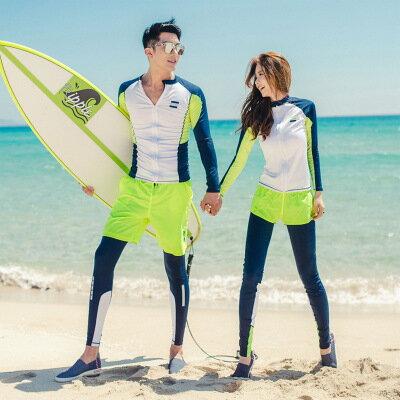 美琪新款韓國한국潛水服情侶套裝衝浪浮潛防曬游泳衣長袖