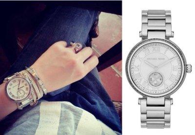 美國Outlet正品代購 MichaelKors MK 復古羅馬數字水鑽  陶瓷  三環 手錶 腕錶 MK5866 7