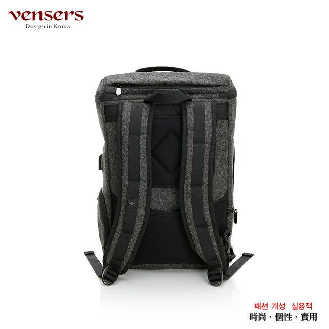 【vensers】 多功能時尚後背包 (S700301黑灰) 4