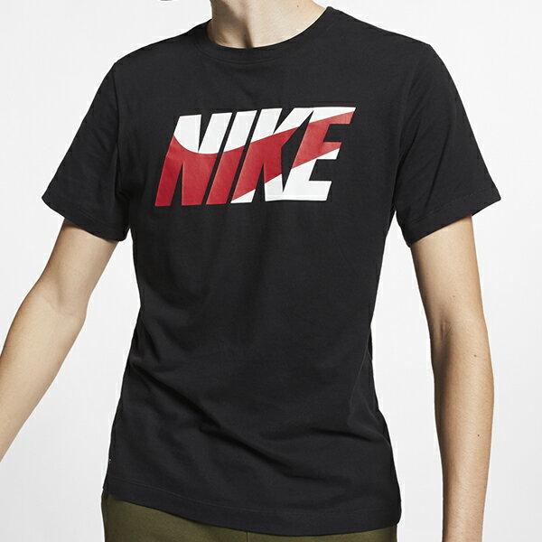 Shoestw【AR6028-010】NIKE 短袖 T恤 短袖上衣 棉質 DRI FIT 黑色 白紅LOGO 0