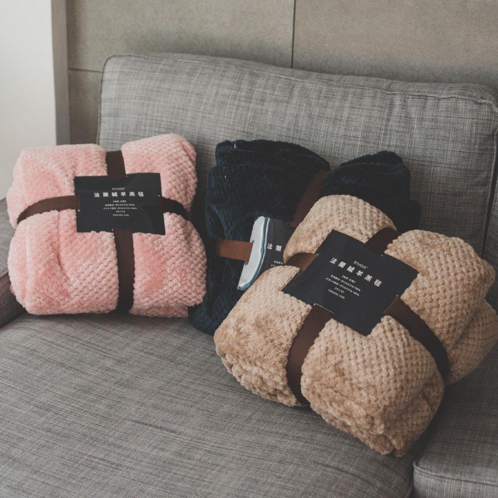 【熱銷破2千條】日本同步法蘭絨x羊羔絨毯-5色 毛毯 / 毯子 / 保暖 / 柔軟 台灣製造 翔仔居家 外島運費另計 7