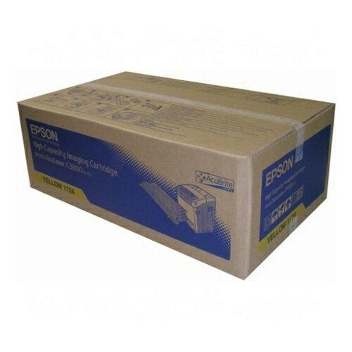 【EPSON 碳粉匣】C13S051124 黃色原廠碳粉匣