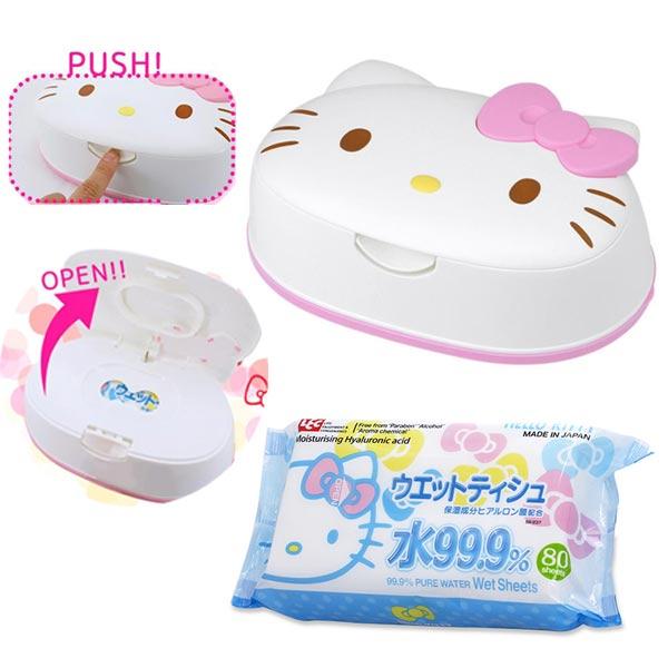 【日本正版】凱蒂貓日本製濕紙巾盒濕紙巾HelloKitty三麗鷗Sanrio-482302