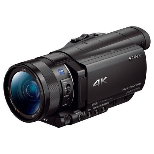 "Sony Handycam FDR-AX100 Digital Camcorder - 3.5"" - Touchscreen LCD - CMOS - 4K - Black - 16:9 - 20 Megapixel Image - 14.2 Megapixel Video - MP4, AVCHD, XAVC S, MPEG-4, H.264/MPEG-4 AVC - 12x Optical Zoom - 160x Digital Zoom - Optical (IS) - Speaker, Micro 2"