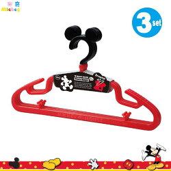 日本製 迪士尼Disney米奇Mickey 造型衣架 防滑 曬衣架 衣架一組3入 日本進口正版  300321