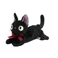 魔女宅急便周邊商品推薦【真愛日本】16080400034造型趴姿娃娃筆袋-JIJI1筆袋    魔女宅急便 黑貓 奇奇貓   收納 筆袋