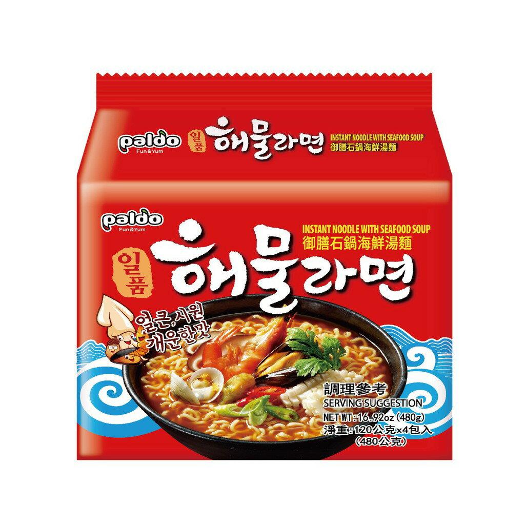 韓國八道Paldo 御膳石鍋海鮮湯麵 拉麵【零食圈】