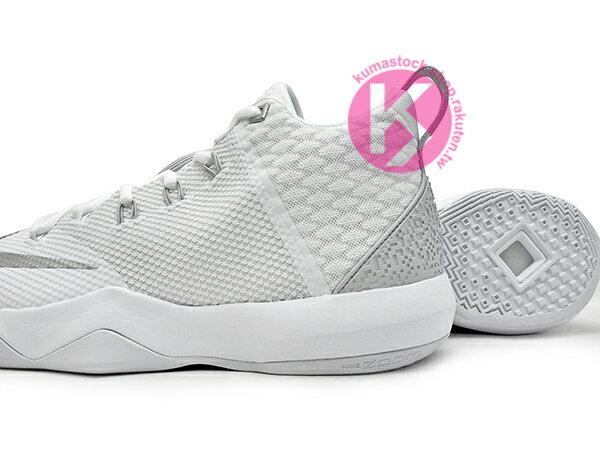 2016年 NBA LeBRON JAMES 子系列代言鞋款 戶外專用鞋款 NIKE AMBASSADOR IX 9 全白 銀灰白 大使 HYPERFUSE + FLYWIRE 鞋面科技 前 後 ZOOM AIR 氣墊 (852413-100) 1216 3