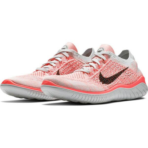 NikeFreeRNFlyknit2018女鞋慢跑休閒赤足編織粉【運動世界】942839-800
