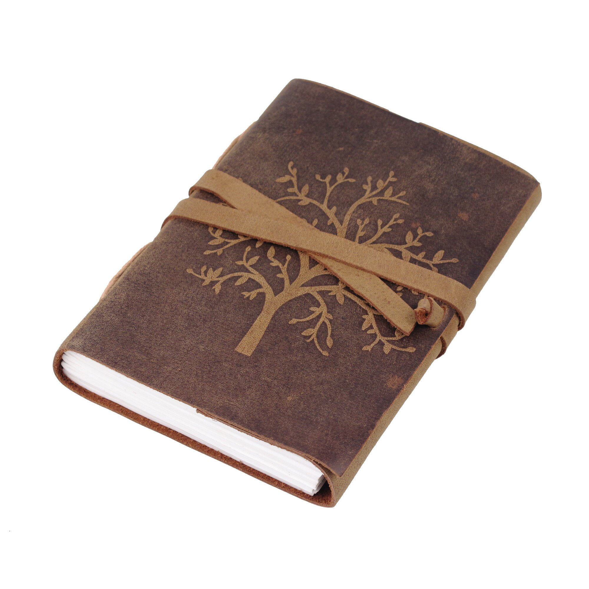 Leather Journal Diary Embossed Large Tree Notebook for Writing Leather Diary Handmade Leather Journal Gbag T