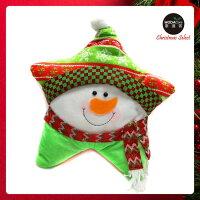 送家人聖誕交換禮物推薦聖誕禮物抱枕及靠枕到【摩達客】超萌聖誕快樂五角星抱枕靠枕-圍巾雪人YS-CTD018006就在摩達客推薦送家人聖誕交換禮物