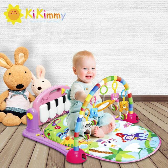 kikimmy 可愛動物嬰兒鋼琴健身架-綠K726G / 粉K726P【德芳保健藥妝】 1