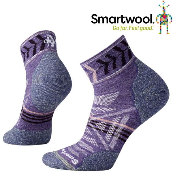 Smartwool羊毛襪排汗襪保暖襪子美麗諾羊毛女款PhD戶外輕量減震印花低筒襪SW000765511薰衣草紫