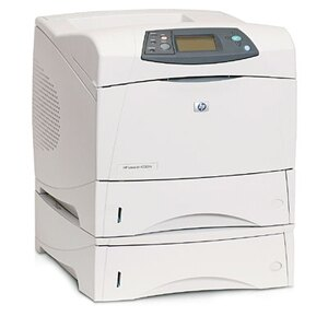 HP LaserJet 4350TN Laser Printer - Monochrome - 1200 x 1200 dpi Print - Plain Paper Print - Desktop - 55 ppm Mono Print - Letter, Legal, Executive, Statement, Envelope No. 10, Monarch Envelope, Custom Size - 1100 sheets Standard Input Capacity - 250000 Du 3