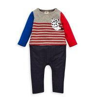 婦嬰用品-童裝推薦Disney 米奇系列小手連身褲-麻花灰(好窩生活節)。就在麗嬰房婦嬰用品-童裝推薦