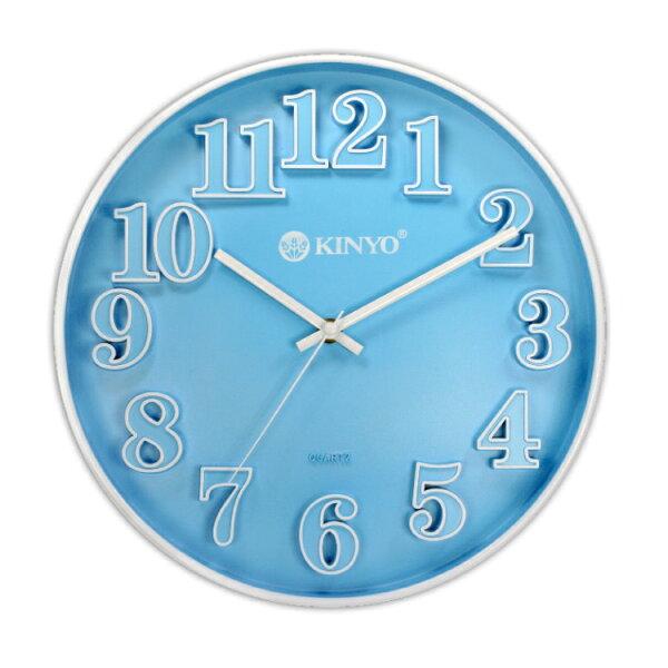 CL-124繽紛立體靜音掛鐘時鐘鬧鐘掛鐘壁鐘LCD電子鐘【迪特軍】