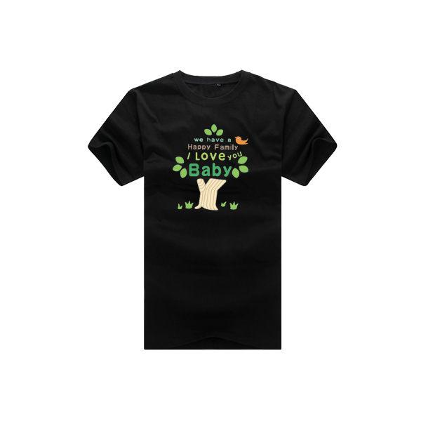 ◆快速出貨◆T恤.親子裝.情侶裝.班服.MIT台灣製.獨家配對情侶裝.客製化.純棉短T. I LOVE親子樹【YC362】可單買.艾咪E舖 8