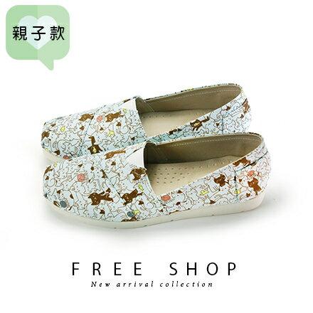 Free Shop 韓系滿版可愛貓咪便鞋休閒鞋懶人鞋 舒適楦頭超柔軟止滑透氣超好穿 (N64)【QSH0640】