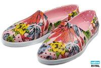 native 輕量懶人鞋、休閒防水鞋到(特價1299)Native 新竹皇家 VERONA 粉色 花舞系列 輕量 水手鞋 女款 NO.I5336